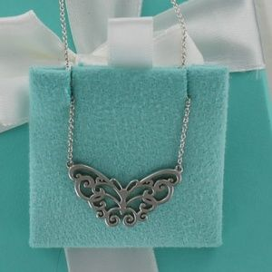 NEW Tiffany ENCHANT Filigree Butterfly Necklace